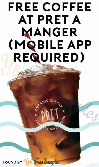 FREE Coffee Every Friday At Pret A Manger (Mobile App Required)
