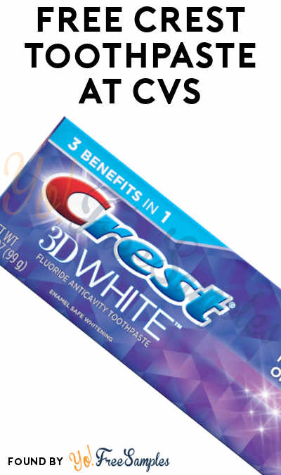 FREE Crest Toothpaste at CVS (Account/App Required)