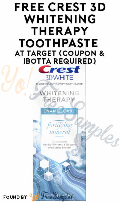 FREE Crest 3D Whitening Therapy Toothpaste At Target (Coupon & Ibotta Required)