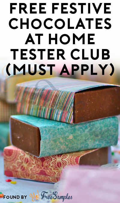 FREE Festive Chocolates At Home Tester Club (Must Apply)