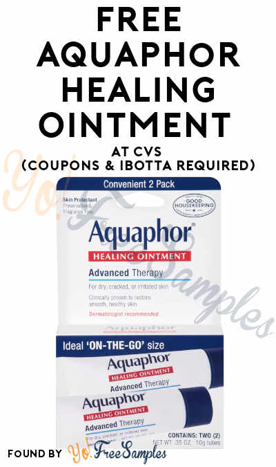 FREE Aquaphor Healing Ointment At CVS (Coupons & Ibotta Required)