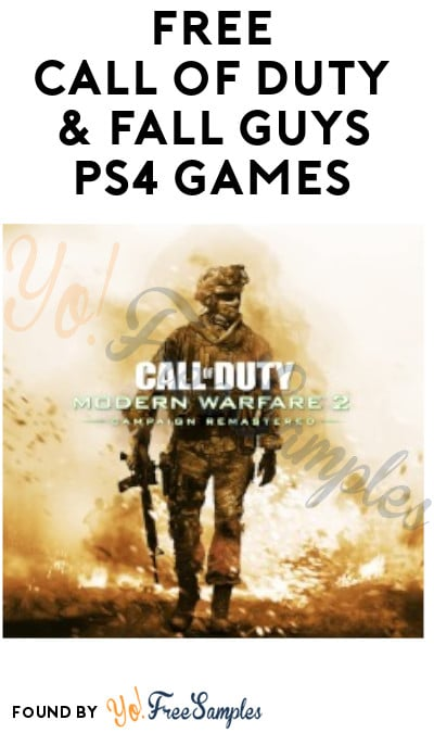 FREE Call of Duty & Fall Guys PS4 Games (PlayStation Plus Required)