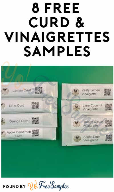 Working Better: 8 FREE Curd & Vinaigrettes Samples