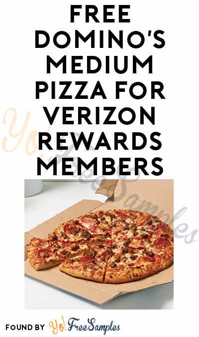 FREE Domino's Medium Pizza For Verizon Rewards Members