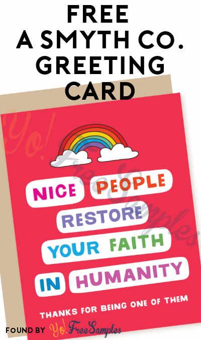 FREE A Smyth Co. Greeting Card