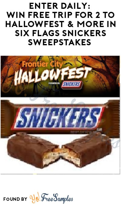 Enter Daily: Win Free Trip for 2 to Hallowfest & More in Six Flags Snickers Sweepstakes