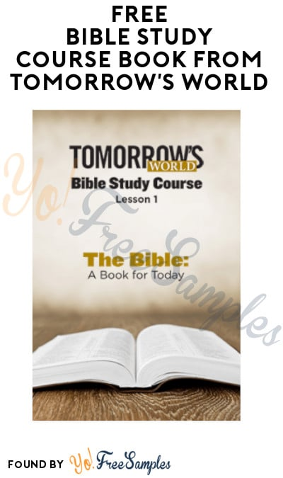 FREE Bible Study Course Book from Tomorrow's World