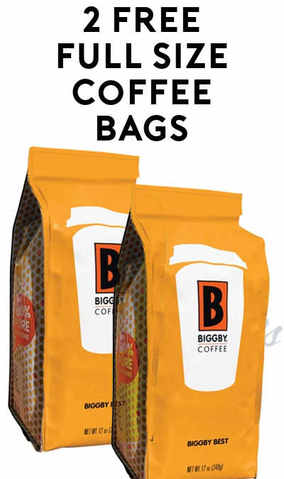 2 FREE BIGGBY COFFEE Bags