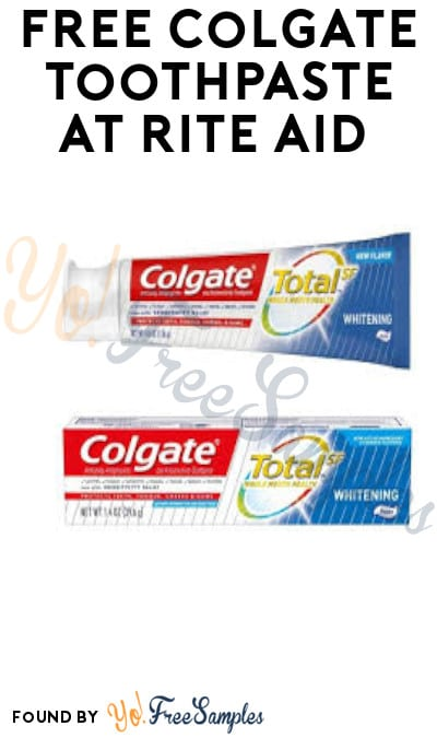 FREE Colgate Toothpaste at Rite Aid (Coupons Required)