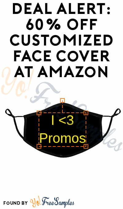 DEAL ALERT: 60% OFF Customized Face Cover At Amazon