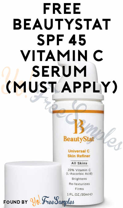 FREE BeautyStat SPF 45 Vitamin C Serum (Must Apply)