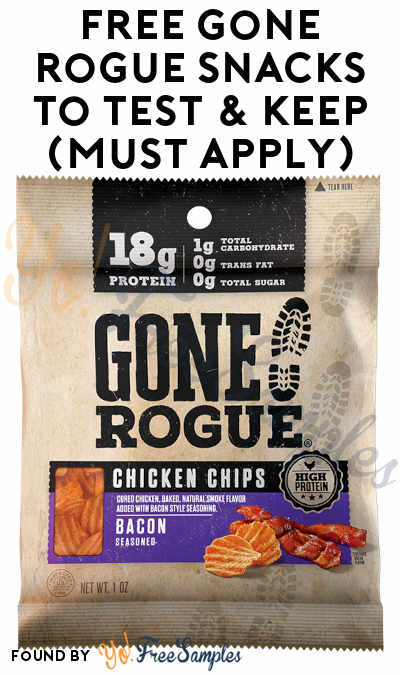 FREE Gone Rogue Snacks To Test & Keep (Must Apply)
