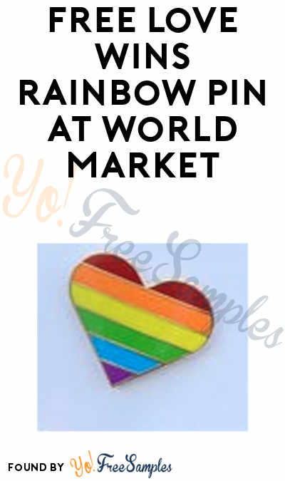 FREE Love Wins Rainbow Pin At World Market