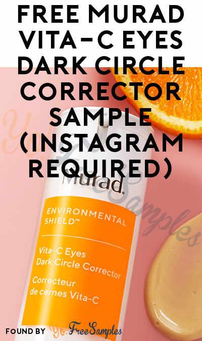 Possible FREE Murad Vita-C Eyes Dark Circle Corrector Sample (Instagram Required)