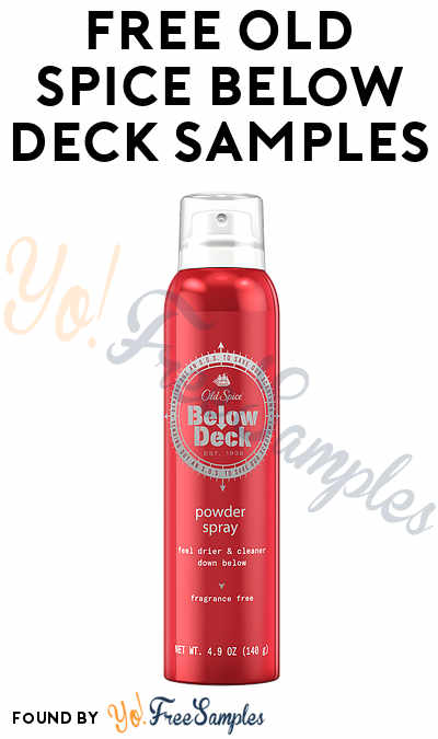 Waitlist Only: FREE Old Spice Below Deck Samples