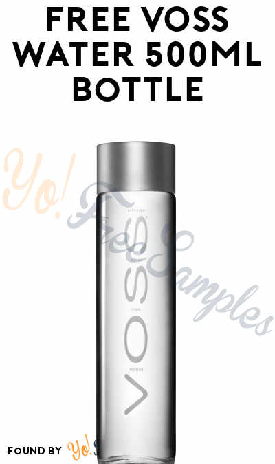 FREE VOSS Water 500ml Bottle
