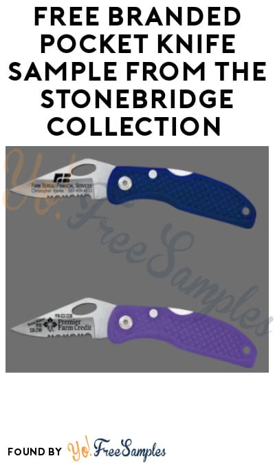 FREE Branded Pocket Knife Sample from The Stonebridge Collection (Company Name Required)