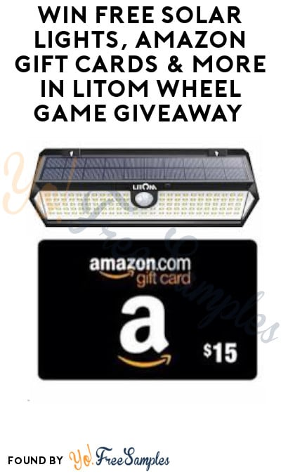 Win FREE Solar Lights, Amazon Gift Cards & More In LITOM Wheel Game Giveaway (Account Required)