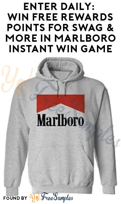 Enter Daily: Win FREE Rewards Points for Swag & More in Marlboro Instant Win Game (Ages 21 & Older)