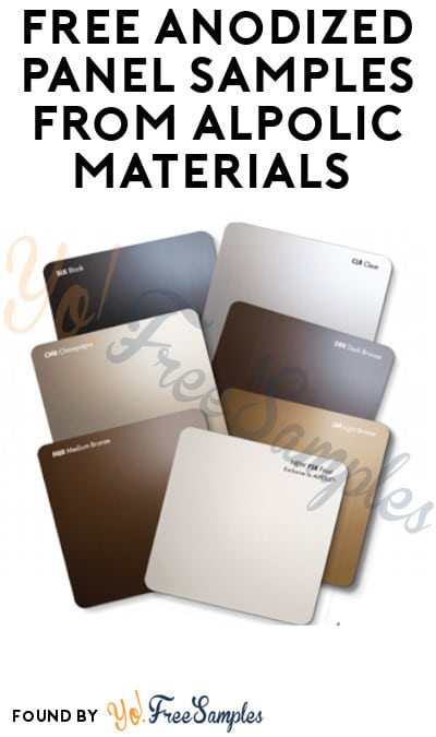 FREE Anodized Panel Samples from Alpolic Materials (Company Name Required)