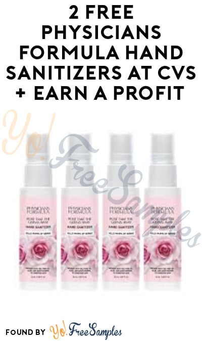 2 FREE Physicians Formula Hand Sanitizers at CVS + Earn A Profit (App/ Coupon Required)