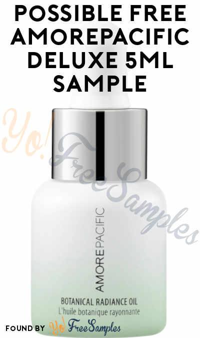 Possible FREE Amorepacific Korean Skincare Deluxe 5ml Sample