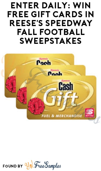 Enter Daily: Win FREE Gift Cards in Reese's Speedway Fall Football Sweepstakes