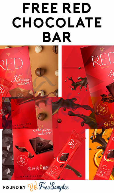 Ends Soon! FREE RED Chocolate Bar at Walmart