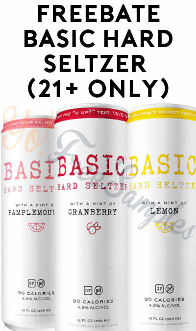 FREEBATE Basic Hard Seltzer (21+ Only)