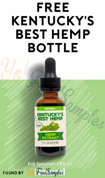 FREE Kentucky's Best Hemp Bottle