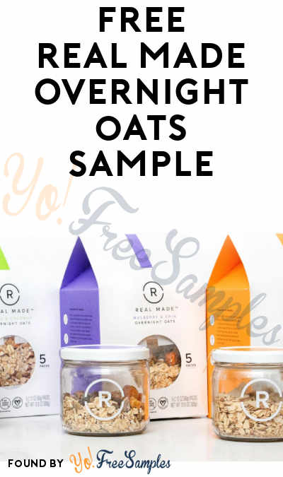 FREE Real Made Foods Overnight Oats Sample