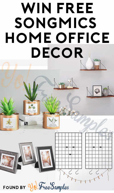 Win FREE Floating Shelves, Photo Frames, Artificial Pants or Grid Photo Wall in SONGMICS Home Office Decor Giveaway