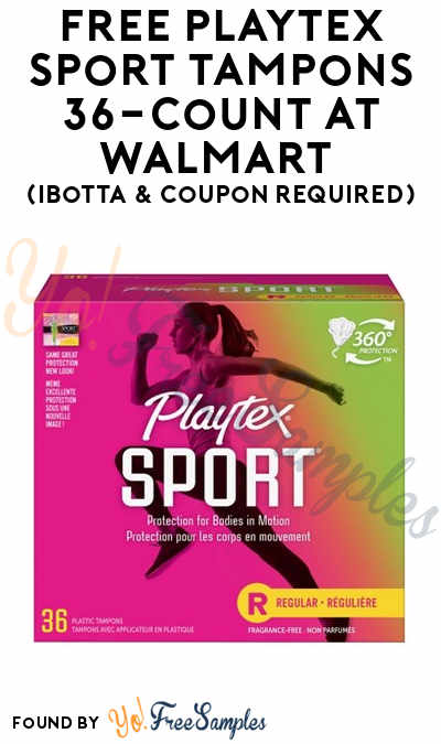 FREE Playtex Sport Tampons 36-Count At Walmart (Ibotta & Coupon Required)
