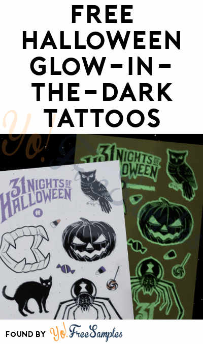 FREE Halloween Glow-in-the-Dark Tattoos