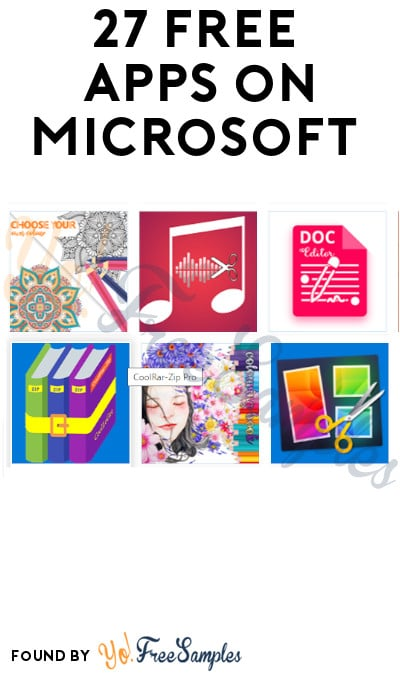 27 FREE Apps on Microsoft (Account Required)