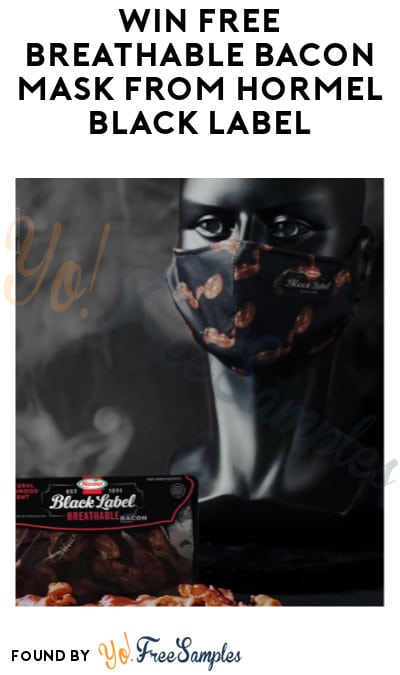 Win FREE Breathable Bacon Mask from Hormel Black Label