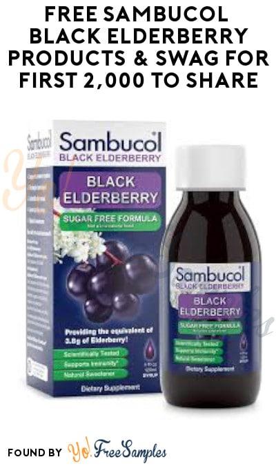 FREE Sambucol Black Elderberry Products & Swag