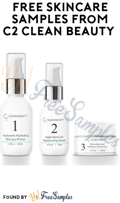FREE Skincare Samples from C2 Clean Beauty (Instagram or Email Required)