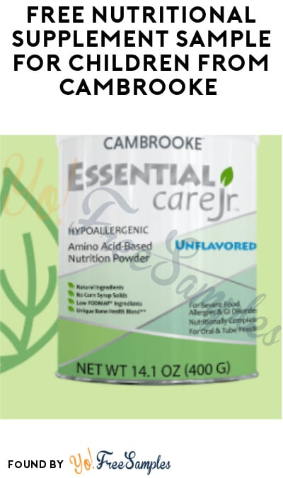 FREE Nutritional Supplement Sample for Children from Cambrooke