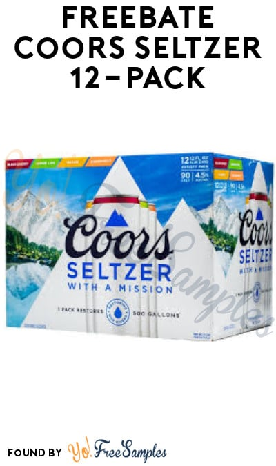 FREEBATE Coors Seltzer 12-Pack (Ages 21+ & Select States Only + Text Required)