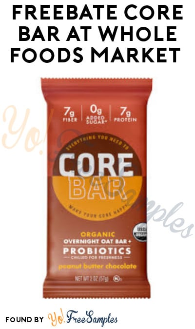 FREEBATE Core Bar at Whole Foods Market (Ibotta Required)