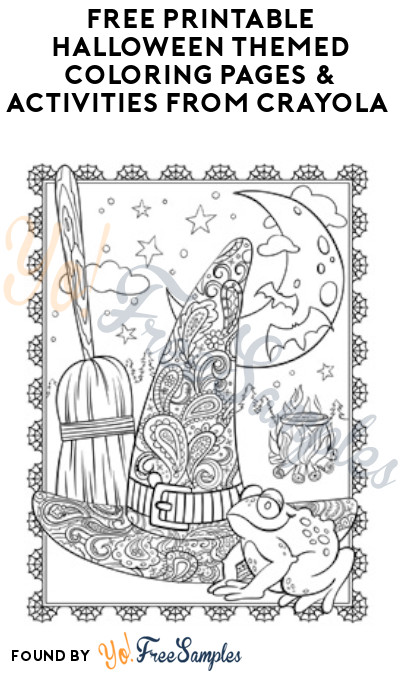 FREE Printable Halloween Themed Coloring Pages & Activities from Crayola