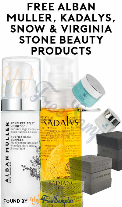 FREE Alban Muller, Kadalys, Snow & Virginia Stone Beauty Products (Must Apply)