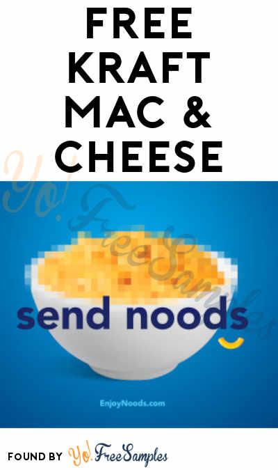 LAST DAY, First 400 At 7PM EST Through 10/11! FREE Kraft Mac & Cheese Box
