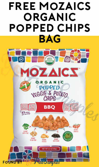 FREE Mozaics Organic Popped Chips Bag