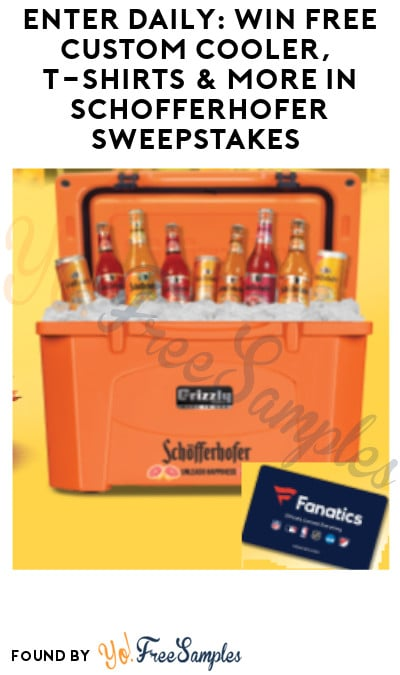 Enter Daily: Win FREE Custom Cooler, T-Shirts & More in Schofferhofer Sweepstakes (Ages 21 & Older Only)