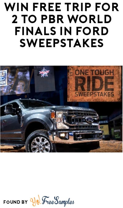 Win FREE Trip for 2 to PBR World Finals in Ford Sweepstakes (Ages 21 & Older Only)
