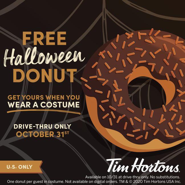 Free Donut at Tim Hortons