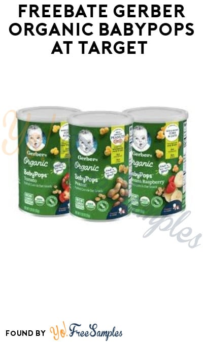 FREEBATE Gerber Organic BabyPops at Target (Target Circle & Fetch Rewards Required)