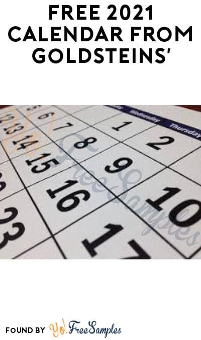 FREE 2022 Calendar from Goldsteins' Funeral